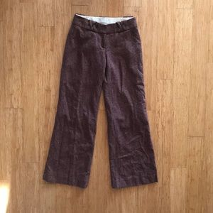 H&M Burgundy Tweed Slacks Size 4